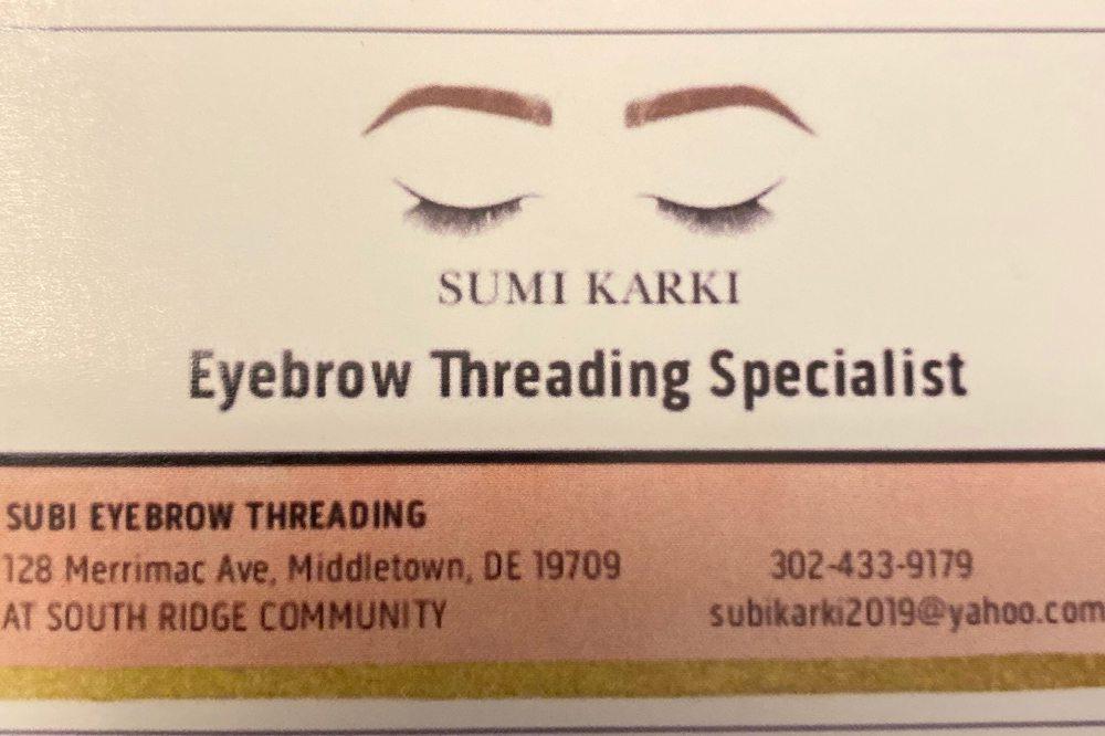 Subi Eyebrow Threading: 128 Merrimac Ave, Middletown, DE