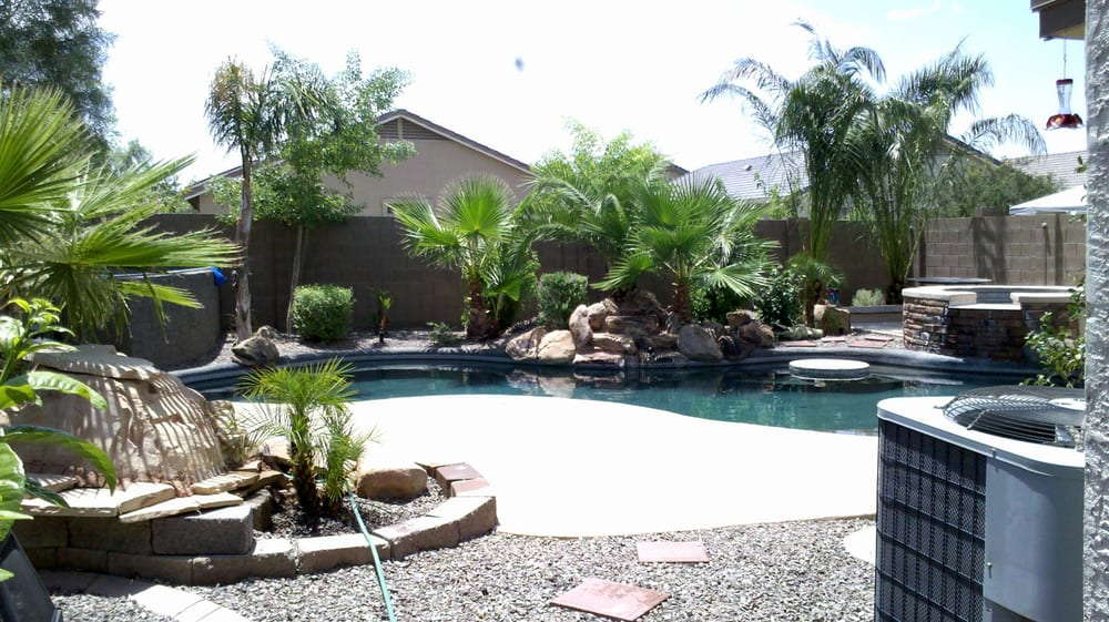 Arizona Backyard Landscape Design With Pool