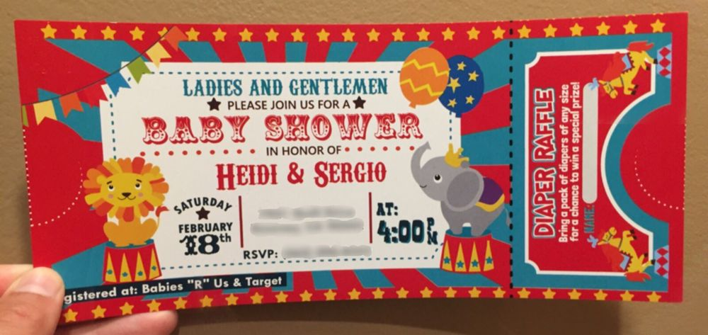 Custom Carnival Theme Baby Shower Invites Template Purchased From