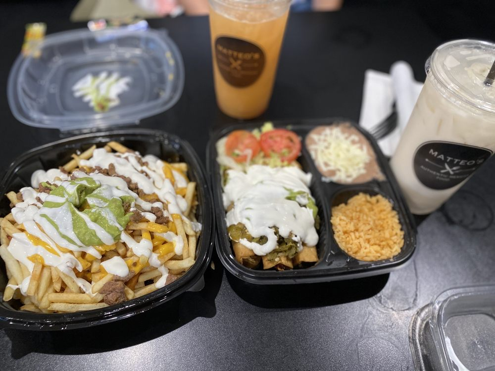 Food from Matteo's Mexican Food