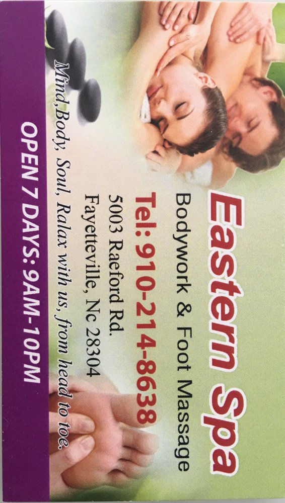 Eastern Spa Foot & Body Relaxation: 5003 Raeford Rd, Fayetteville, NC