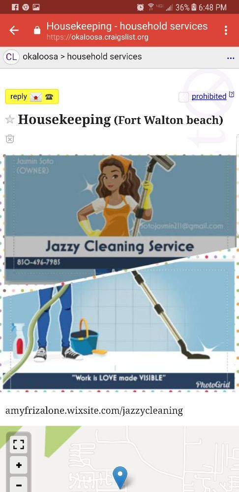 Craigslist Fort Walton Beach >> Jazzy Cleaning Service Request A Quote Home Cleaning 507