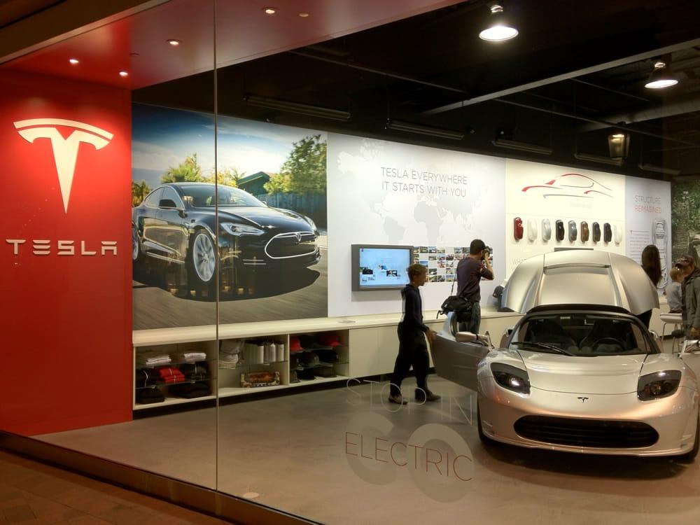 Tesla Store Fashion Island Newport Beach Orange County