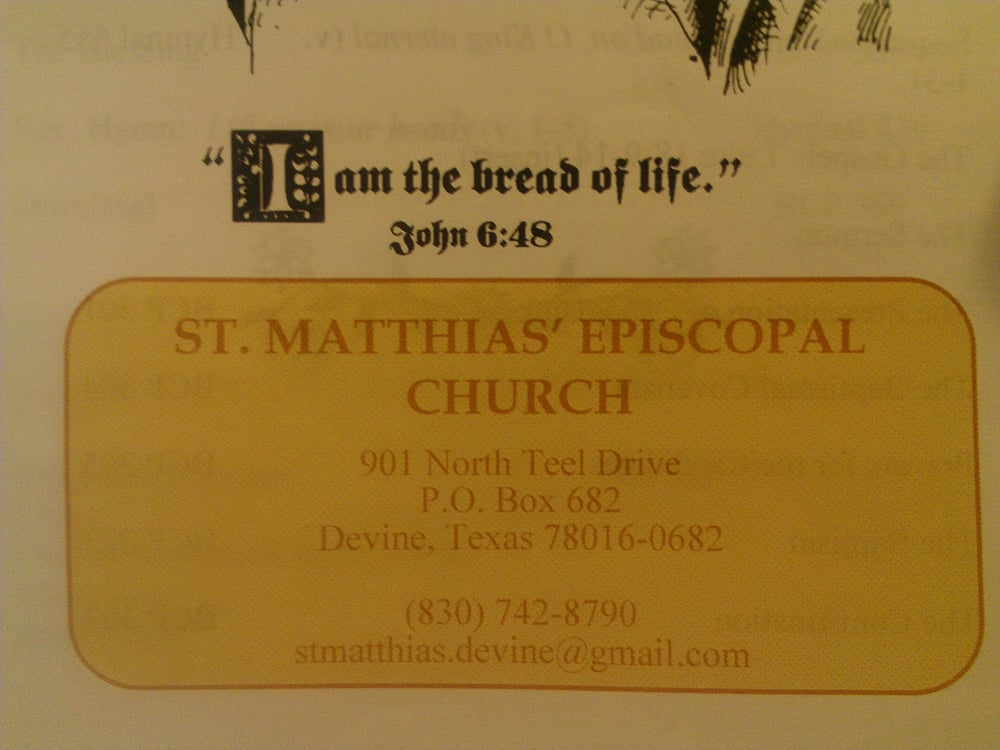 St. Matthias Episcopal Church: 901 N Teel, Devine, TX