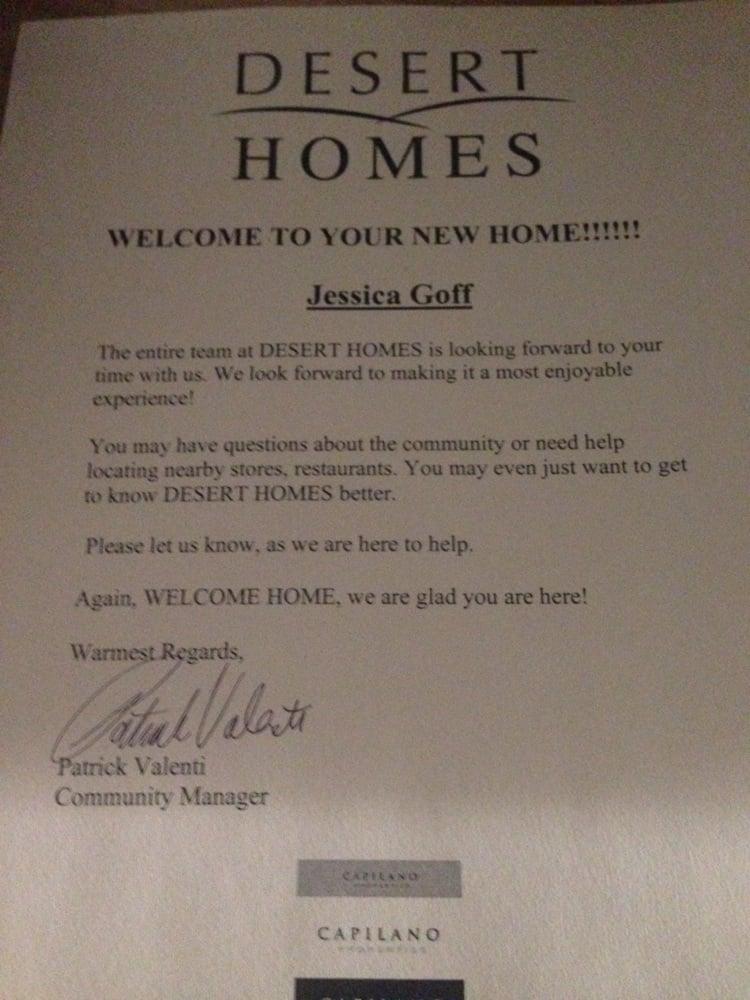 Photo Of Desert Homes Phoenix Az United States Welcome Letter Inside The