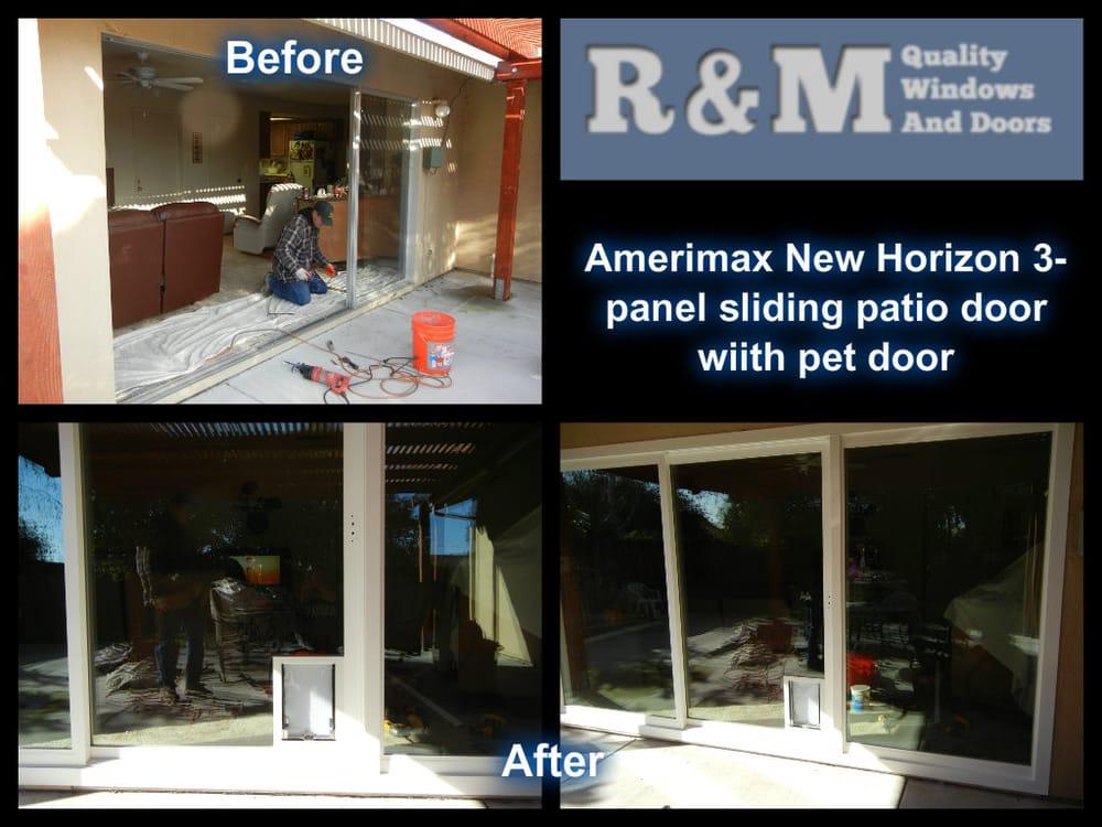 Before After Amerimax New Horizon Retrofit Sliding Patio Door With