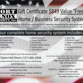 Fort Knox Security - Security Systems - 11125 Park Blvd, Tampa Bay ...
