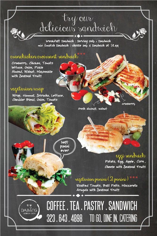 Sandwich Menu Everything So Good Wrap Amp Panini For