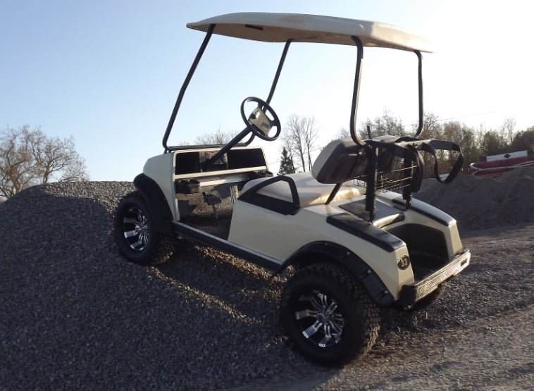 Club Car Ds With Jake S 6 Spindle Lift Kit And 12 Aluminum Rims