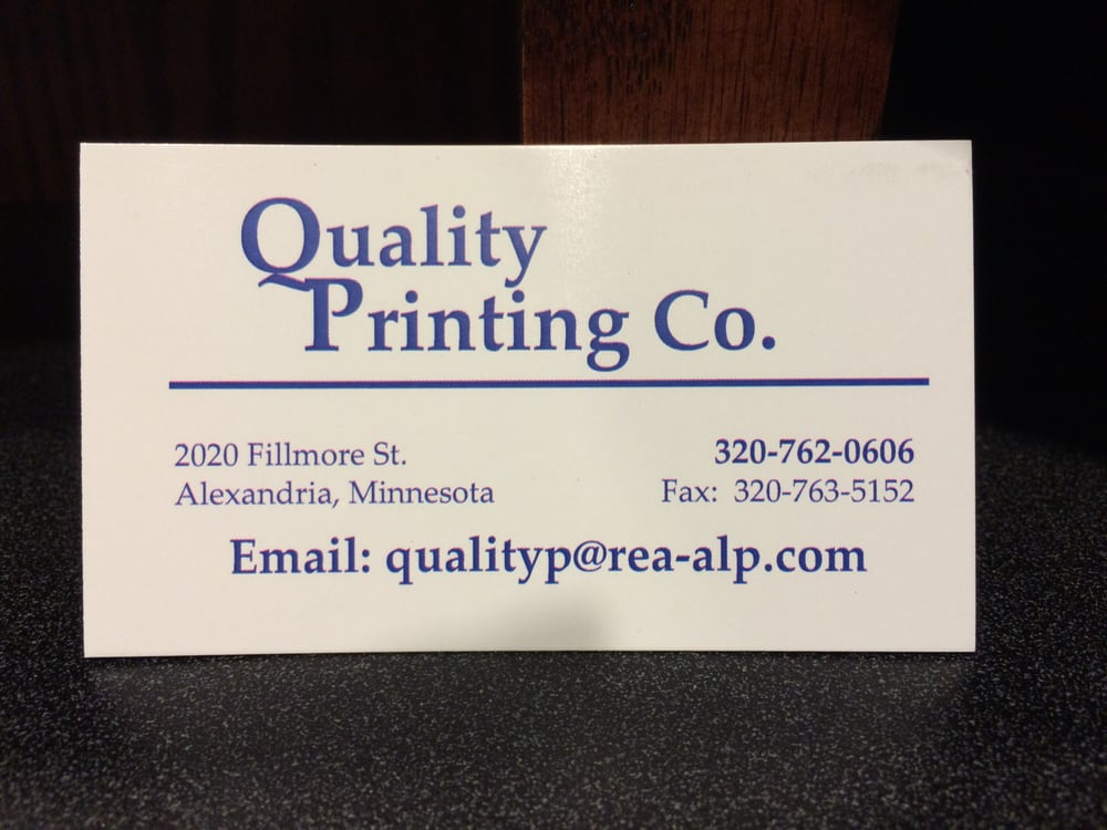 Quality Printing: 2020 Fillmore St, Alexandria, MN