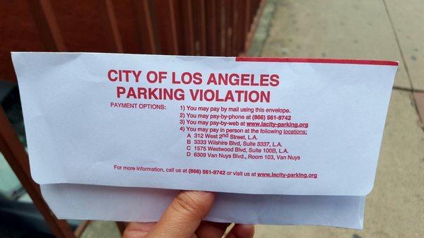 City Of Los Angeles Parking Violation >> City Of Los Angeles Parking Violations Bureau 312 W 2nd St Los