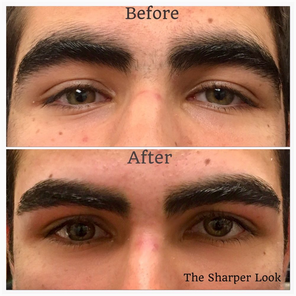 Guy Brows Before And After Brow Wax A Subtle Yet Great Difference A