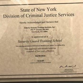liberty security training institute - specialty schools - 13 e 37th