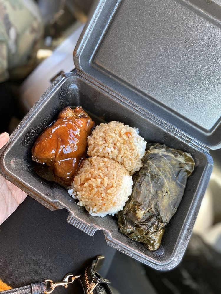Food from Keoni's Hawaiian Kaukau Truck