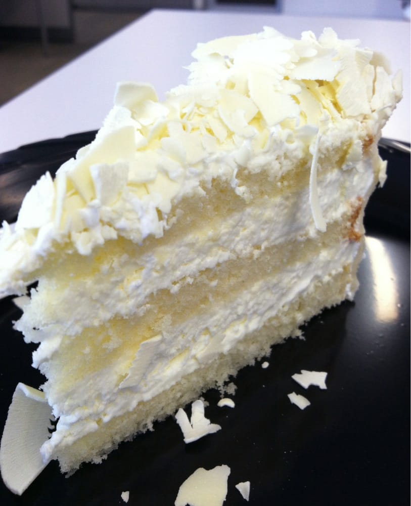 White chocolate mousse cake - Yelp