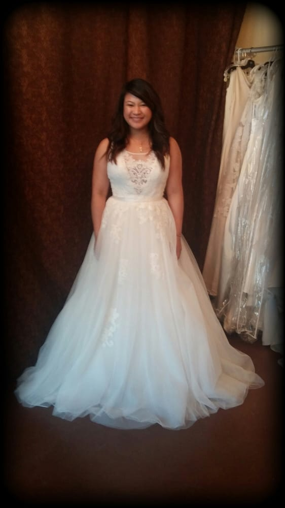 The front of the dress a little peek ca boo yelp for Wedding dresses in san jose ca