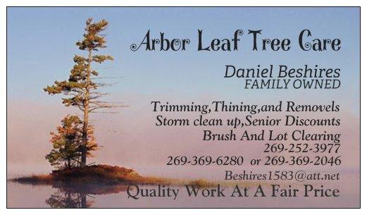 Arbor Leaf Tree Care: Berrien County, MI