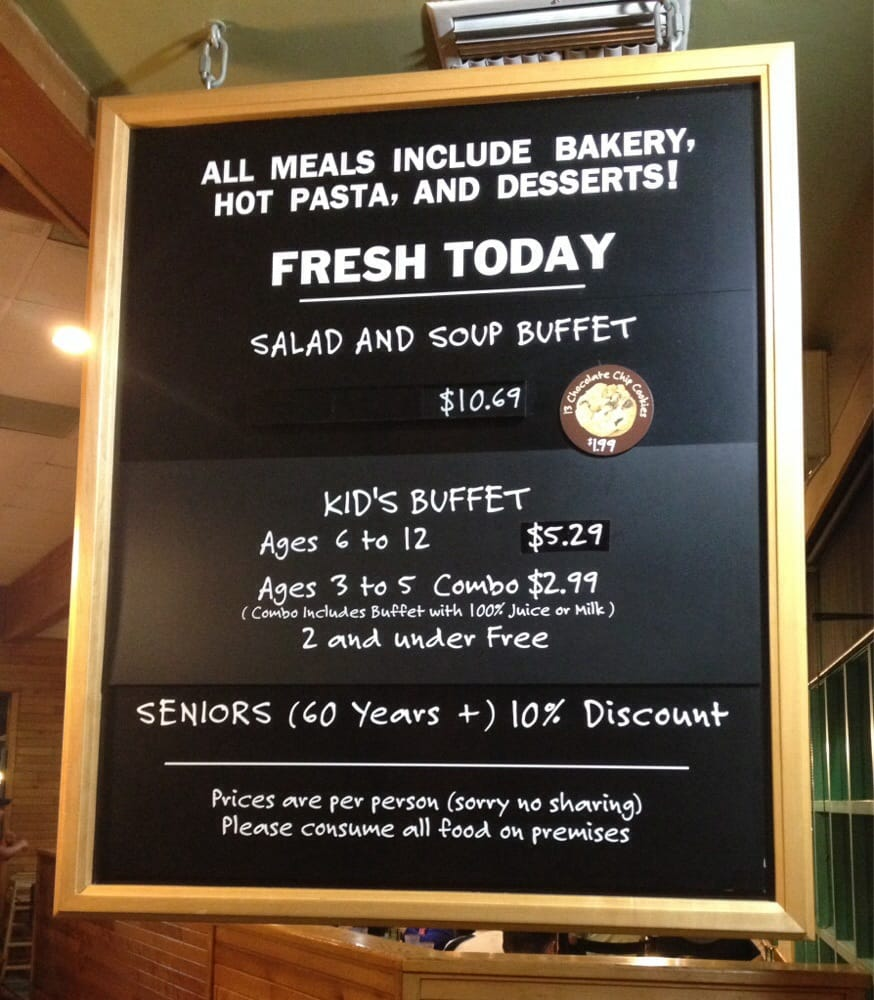 dinner 10 69 original price cheaper with coupon yelp rh yelp com sweet tomatoes restaurant menu prices sweet tomatoes buffet price 2017