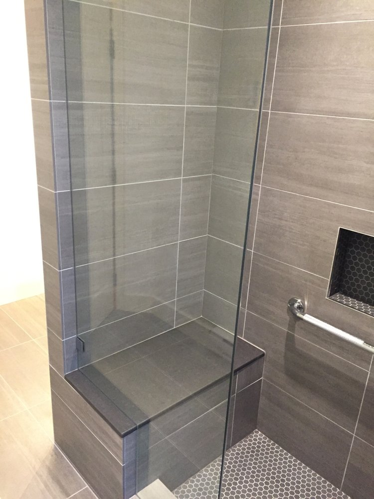 Bathtub Converted Into Shower Frameless Shower Glass Door Yelp