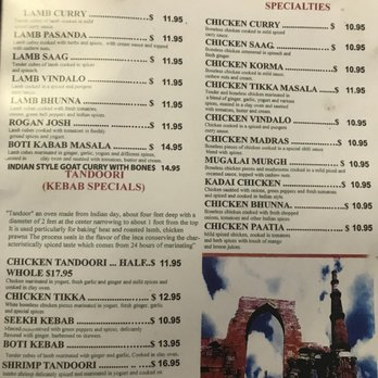 Indian Restaurant Norwich Ct Menu