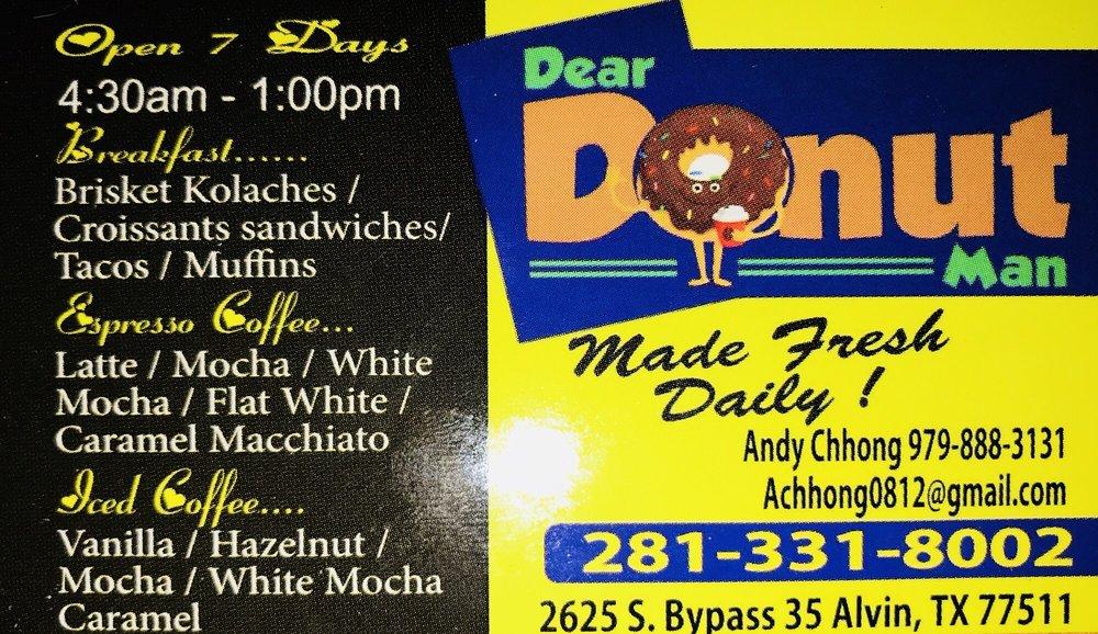 Dear Donut Man: 2625 S Bypass 35, Alvin, TX