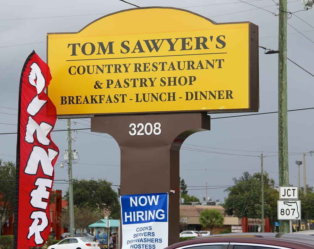 Tom Sawyer Restaurant Pastry West Palm Beach