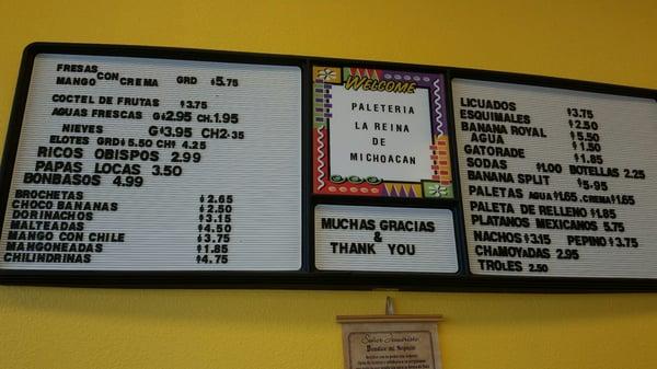 Paleteria La Reina De Michoacan 4501 4th St Nw Ste G1 Albuquerque