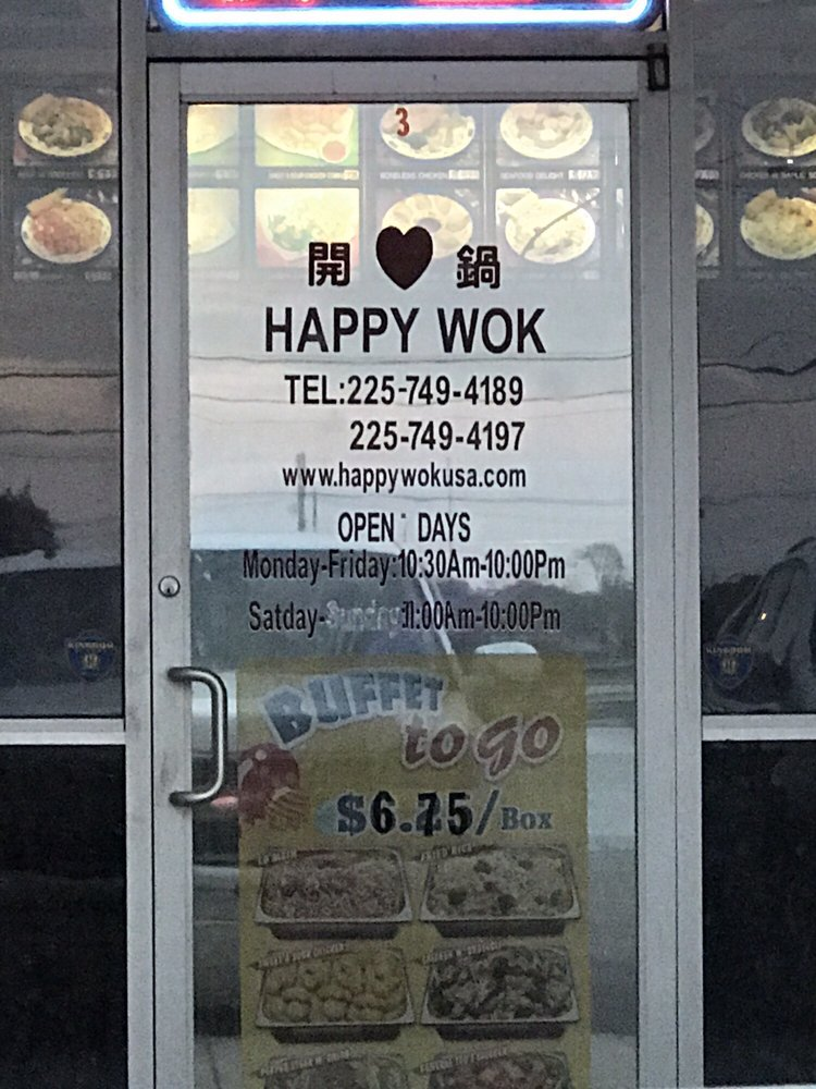 Happy Wok Restaurant: 6631 La Hwy 1 S, Addis, LA