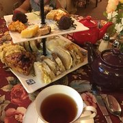 Photo of Olde English Tea Room - Wake Forest, NC, United States. Afternoon tea for two