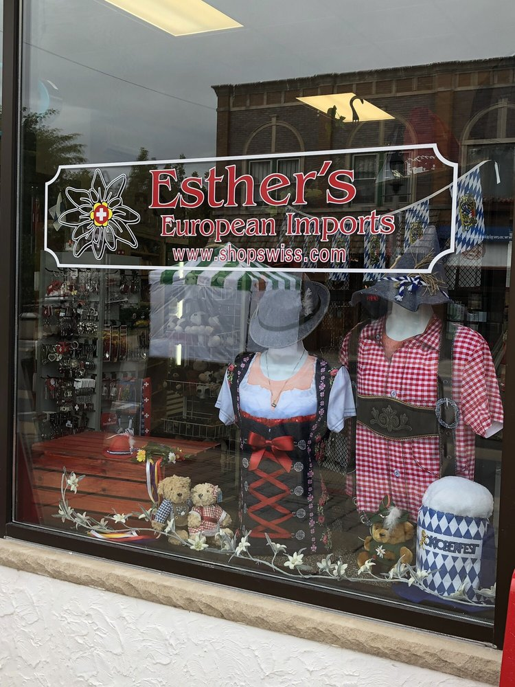 Esther's European Imports: 523 1st St, New Glarus, WI