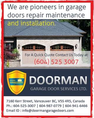 Doorman Garage Door Services - Garage Door Services - 7160 Kerr ...