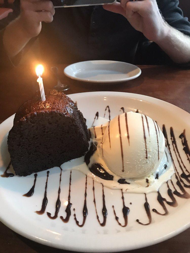 Chocolate cake with vanilla ice cream - Yelp