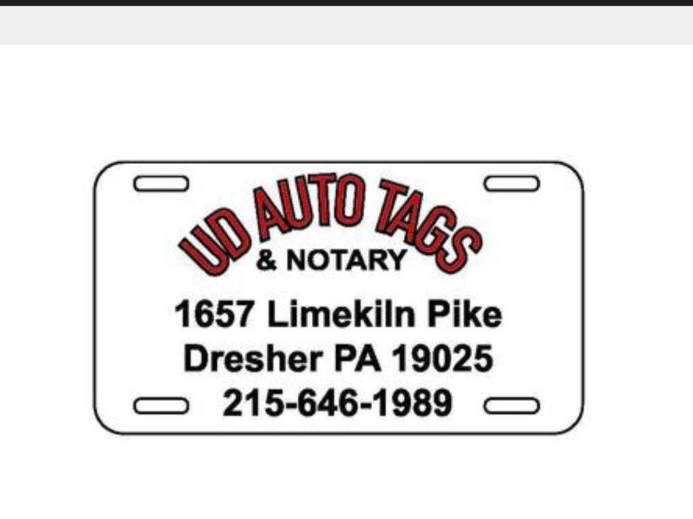 Upper Dublin Auto Tags & Notary: 1657 Limekiln Pike, Dresher, PA