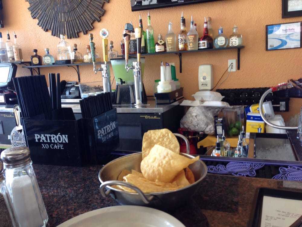 Chips salsa and a frozen mojito at the bar yelp for 1492 new world latin cuisine oklahoma city