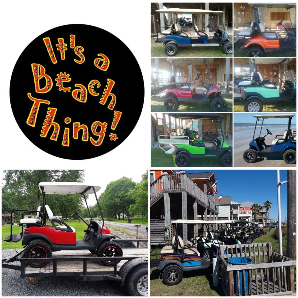 It's a Beach Thing: Golf Cart Rental: 2489 Howell, Crystal Beach, TX