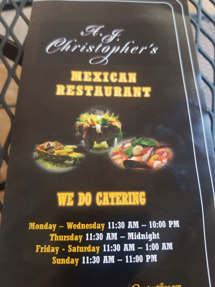 A J Christopher's Mexican Restaurant: 5626 W Lincoln Hwy, Parkesburg, PA