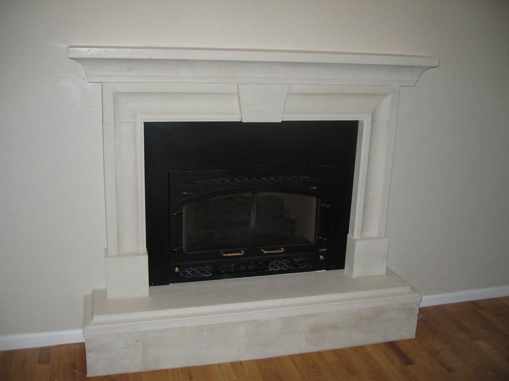 Elyse Cast Stone Fireplace Surround With Optional Keystone