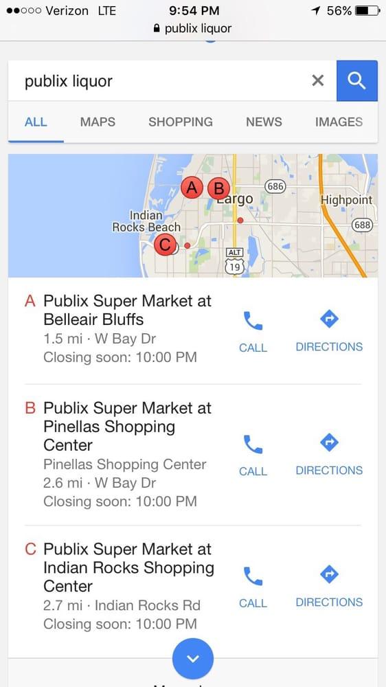 Publix Super Market: 2770 W Bay Dr, Belleair Bluffs, FL