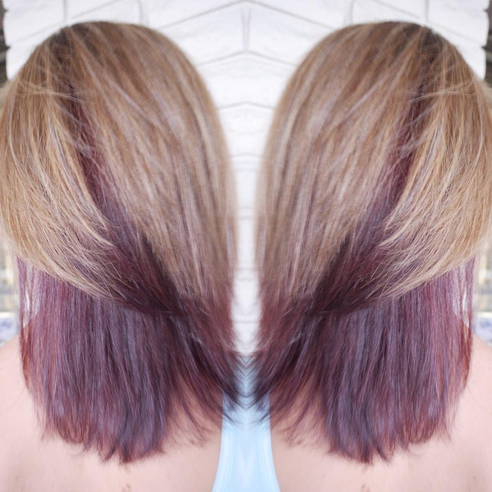 Ash Blonde With Auburn Underneath Fun Hair Yelp