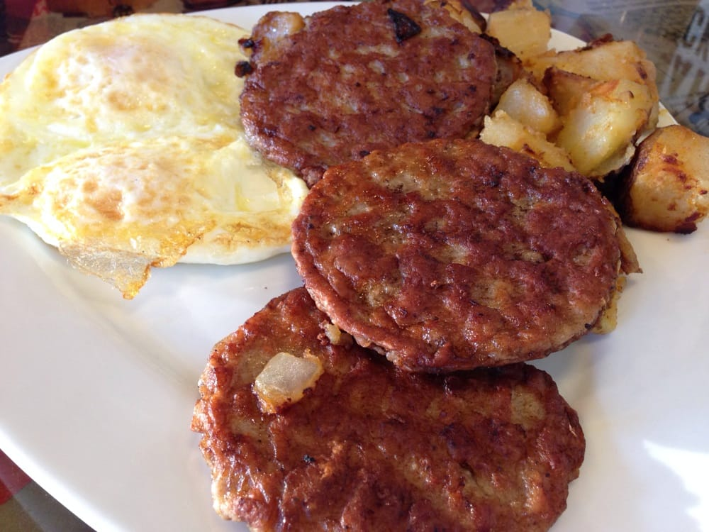 Sausage patties and eggs - Yelp