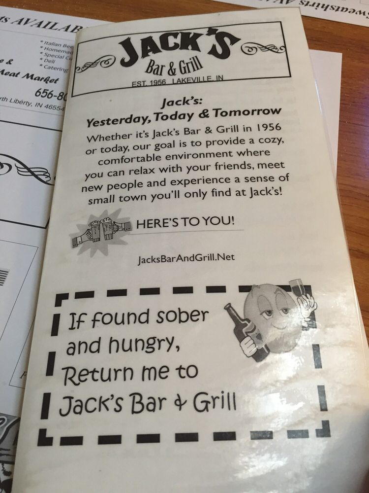 Jack's Bar & Grill: 117 S Michigan St, Lakeville, IN