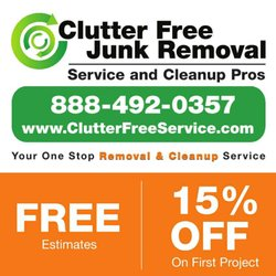 Free Junk Removal >> Clutter Free Junk Removal Service Cleanup Pros 347 Photos Home