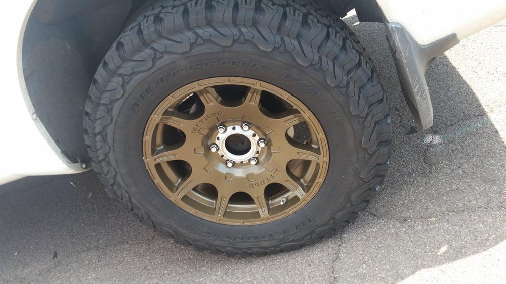 Method Race Wheels Roost Bronze Painted On Bf Goodrich T
