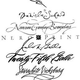 Deaver Georgia Calligraphy Illustration Kalligrafie