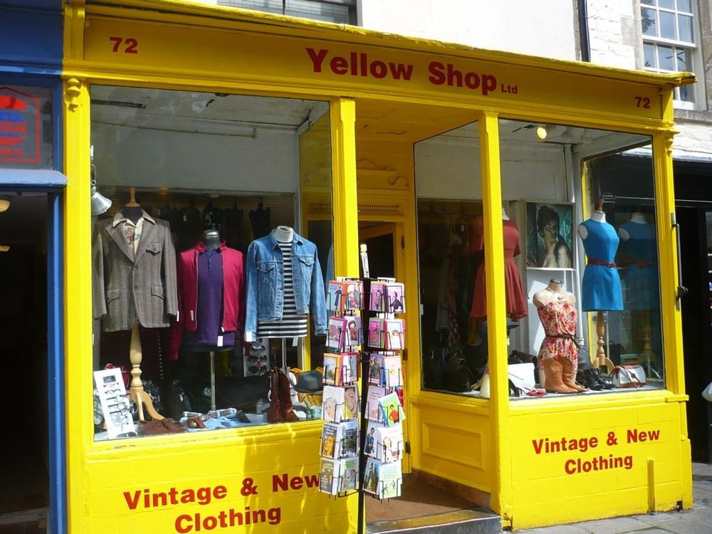 yellow shop vintage second clothing 74 walcot