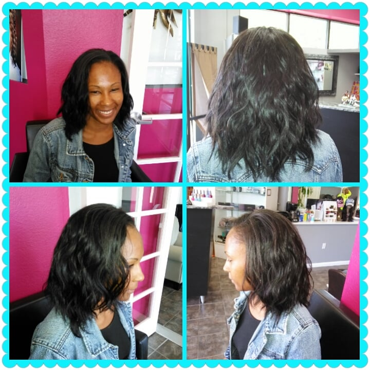 Full Sew In Italian Wave Human Hair Weave Long Layers Addedby