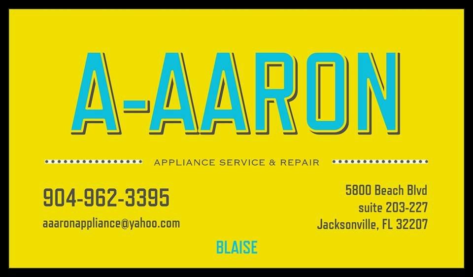 a aaron appliance service and repair appliances repair riverside jacksonville fl phone. Black Bedroom Furniture Sets. Home Design Ideas