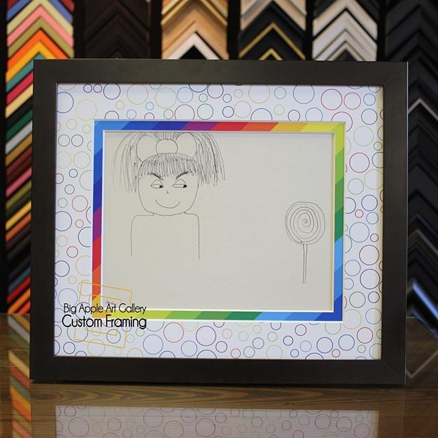Rainbow Matting! Yes, we can do that. #customframing #pictureframing ...