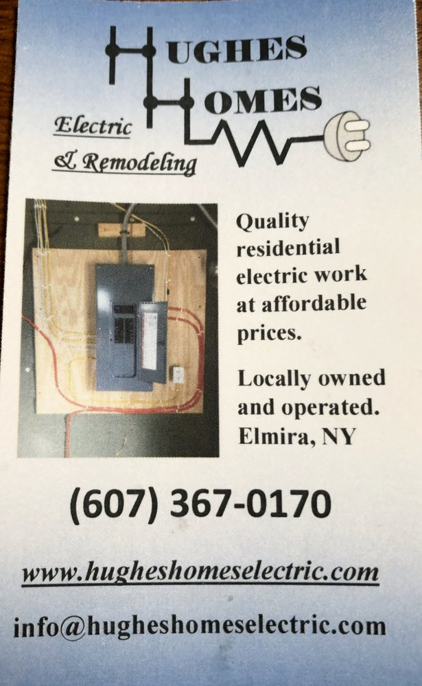 Hughes Homes Electric & Remodeling Services: 779 Cedar St, Elmira, NY