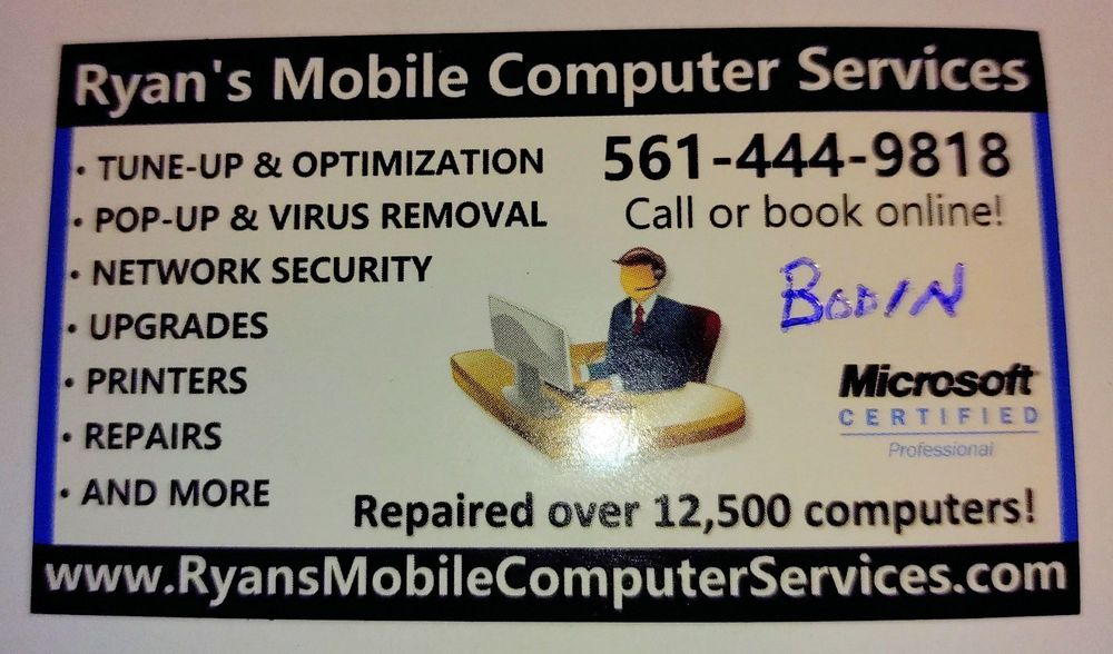 Ryan's Mobile Computer Services: Lake Worth, FL